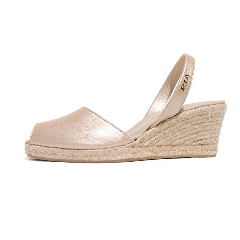 NEW Brava leather sandals in champagne Women's by RIA