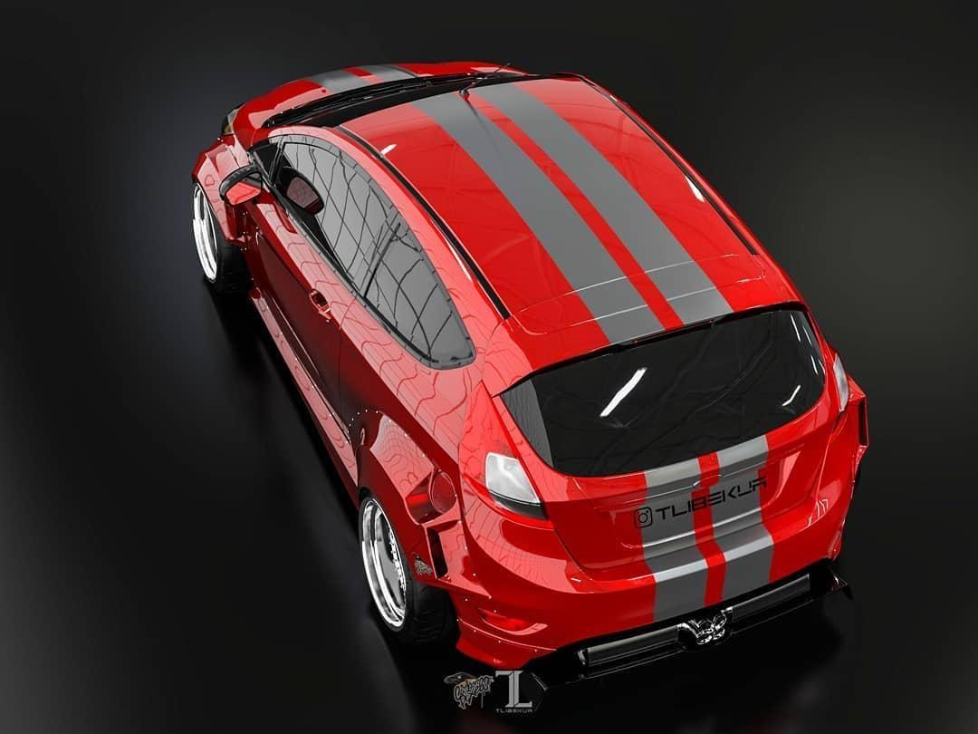 Ford Fiesta Mk7 3dr Wide Body Kit Krotov Pro In 2020 Wide Body Kits Body Kit Ford Fiesta