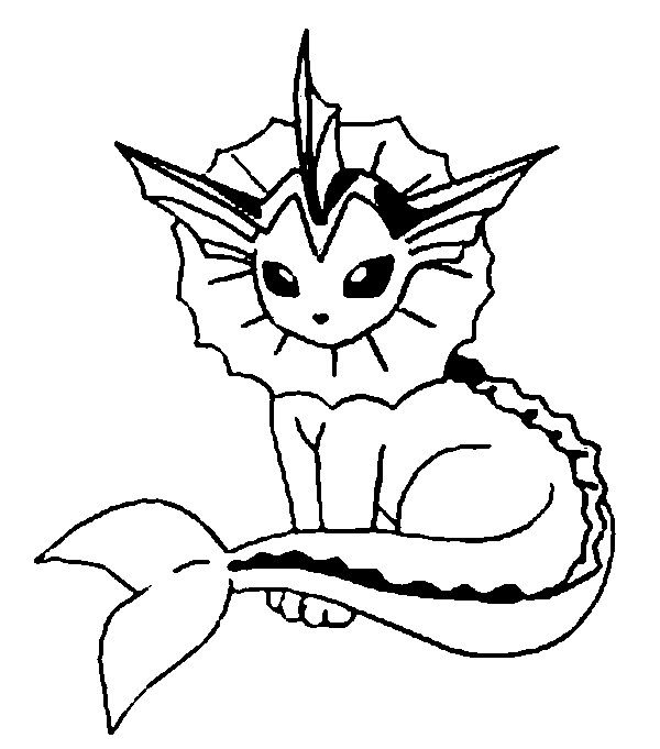 Vaporeon Pokemon Coloring Pages Pokemon Coloring Pokemon Sketch