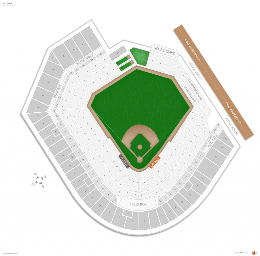 Baltimore Orioles Seating Guide Oriole Park Rateyourseats With Regard To 1st Mariner Arena Seating Chart With Rows 1stmarinerarenaseatingchartwithrows Check M