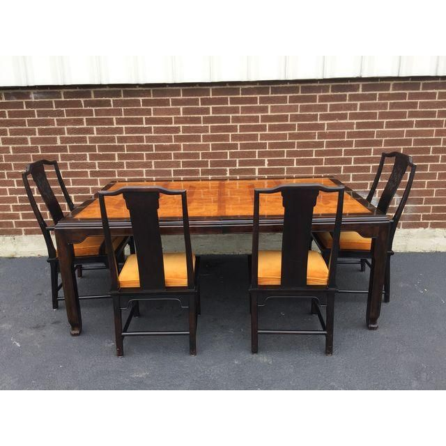 Image Of Century Chin Hua Dining Table And Eight Chairs