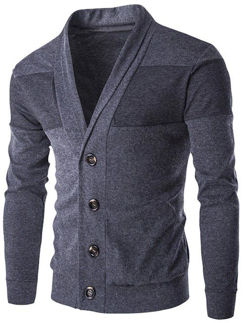 Slim-Fit Shawl Collar Button Up Cardigan | Shawl, Men's fashion ...