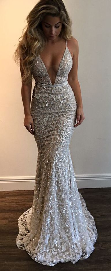 Gorgeous Prom Dress Prom Dresses Straps Prom Gown Deep V Neck Prom