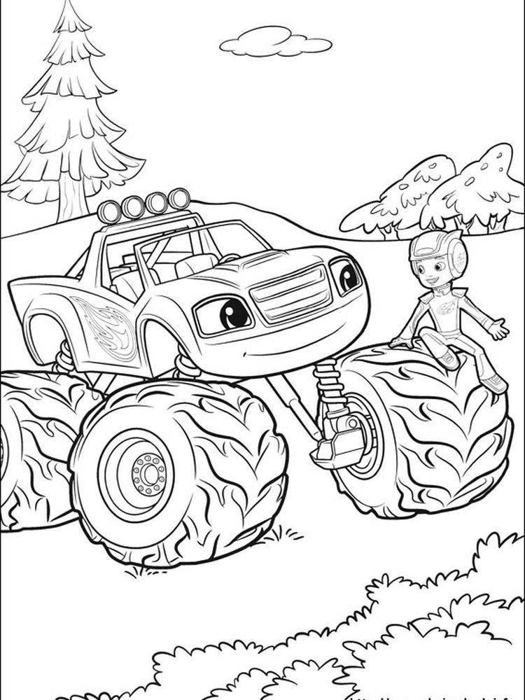 Stripes Blaze And The Monster Machines Coloring Pages Blaze And The Monster Machine Is A Monster Truck Coloring Pages Truck Coloring Pages Cute Coloring Pages