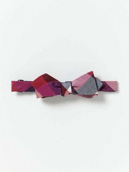 Alexander Olch Large Checked Bowtie