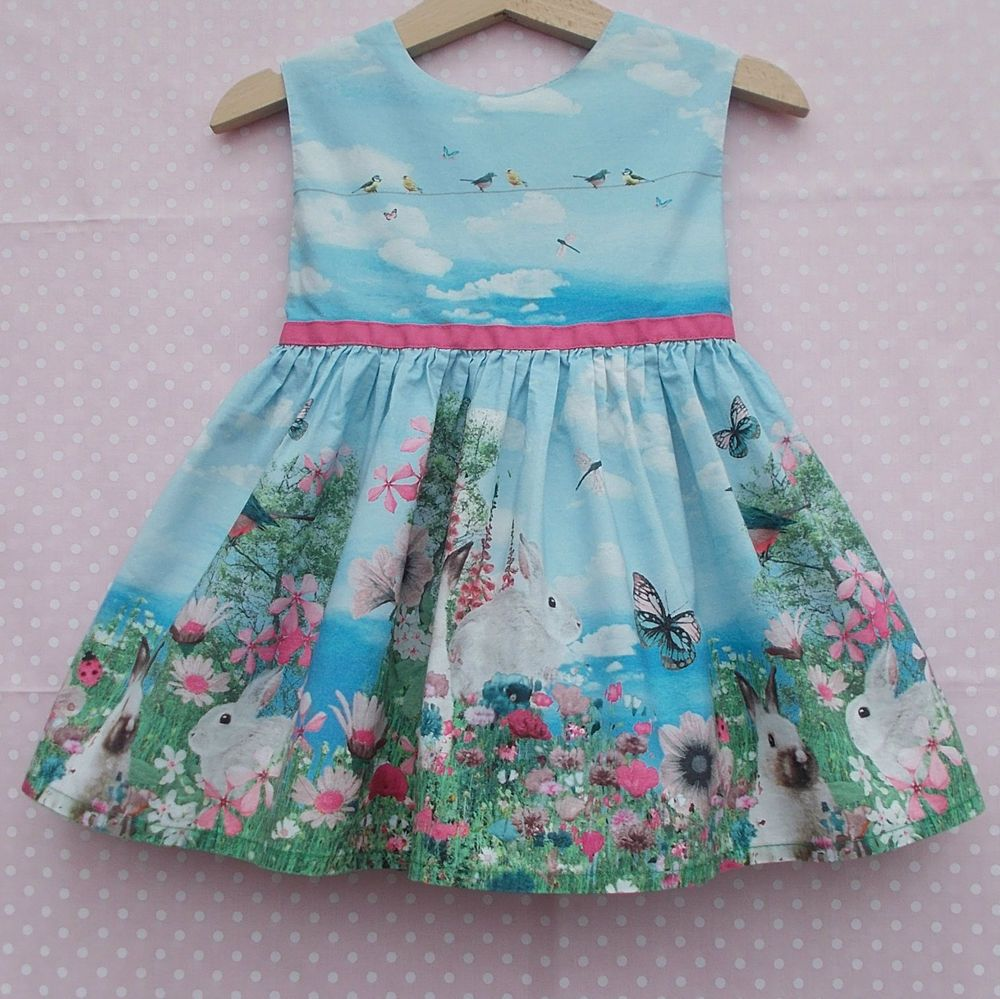 Girls NEXT Garden Bunny / Rabbit Dress age 6-9 months. Perfect for ...