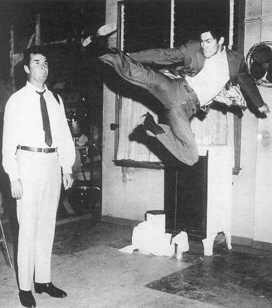 """James Garner and Bruce Lee. Just for the record, Garner is 6'3"""".  Exactly."""