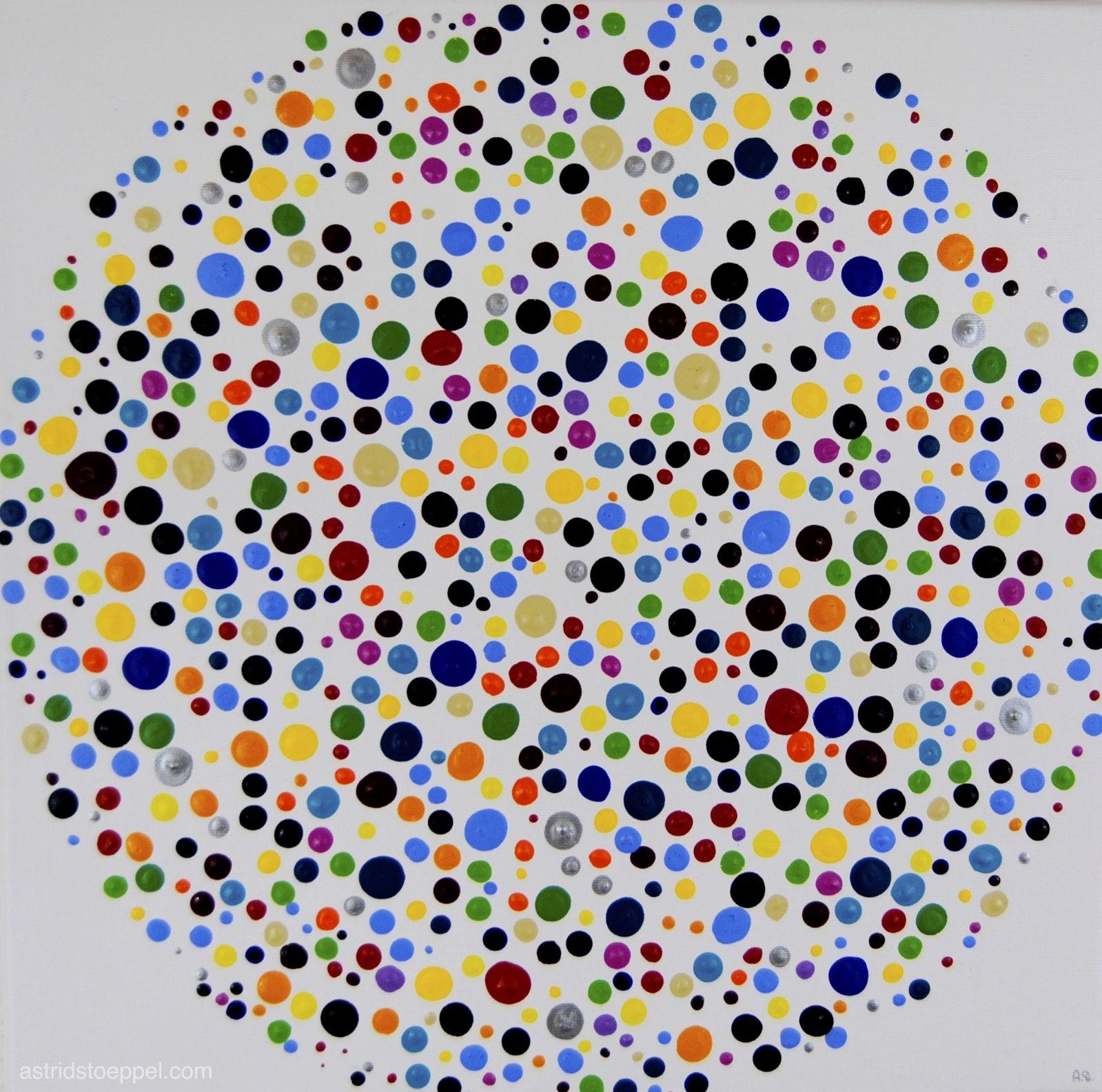 Dotted Acrylic On Canvas 50x50cm Astrid Stoeppel Astridstoeppel Com Paint Chip Art Original Art Collection Homeschool Art