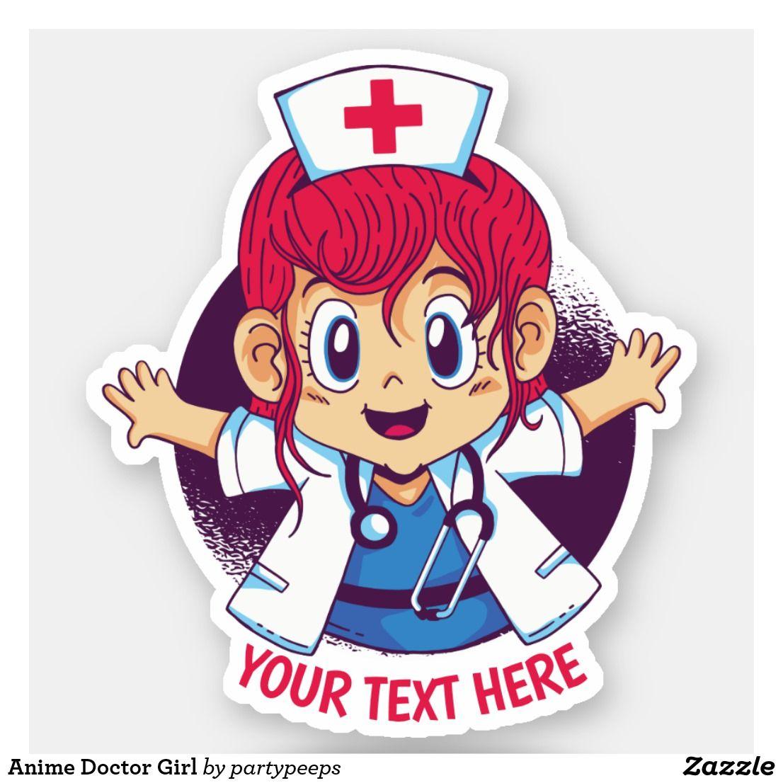 Anime doctor girl sticker anime stickers anime