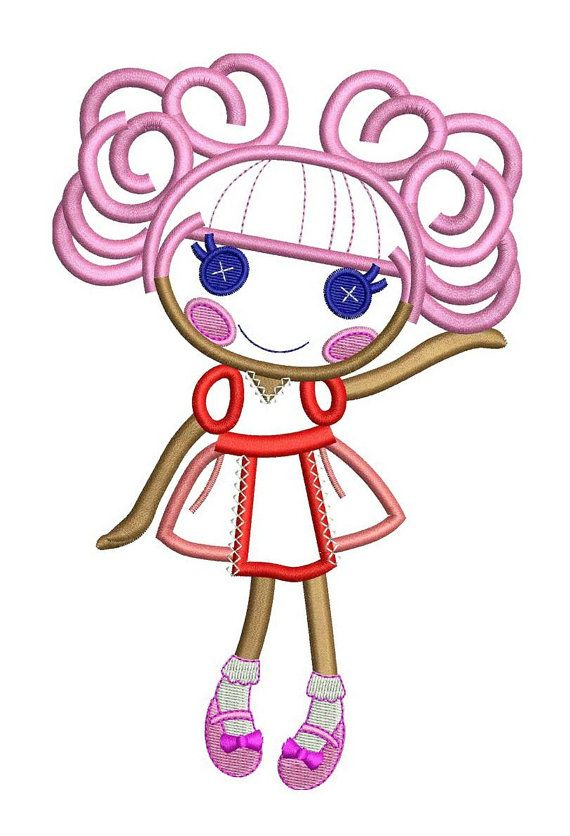 LaLaLoopsy Curly Top Doll Face Applique Design - 5x7 & 6x9. $5.00 ...