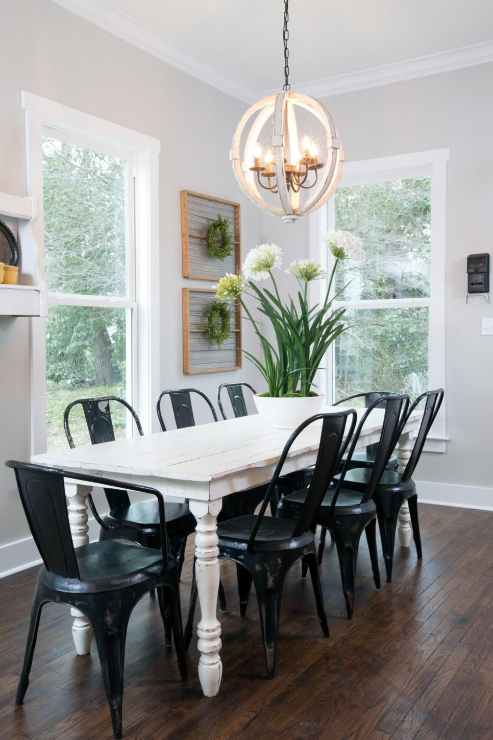 Fixer Upper Tackling The Beast Farmhouse Dining Room Table Modern Farmhouse Dining Room Farmhouse Dining Room