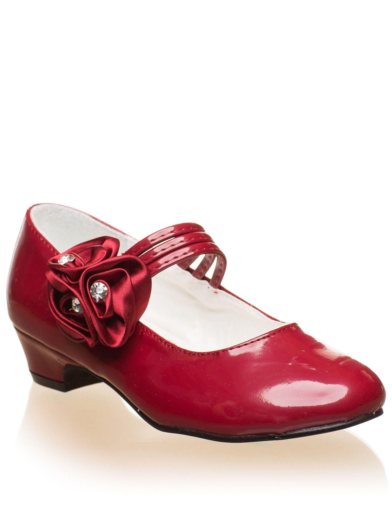 Girls burgundy shoes | Flower girl