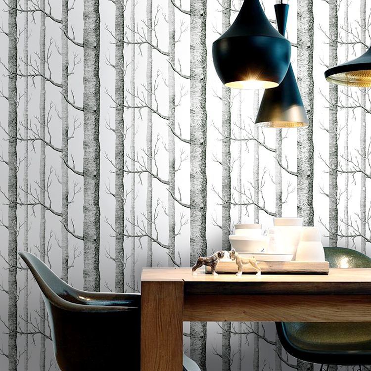 Abstract trees forest non-woven wallpaper