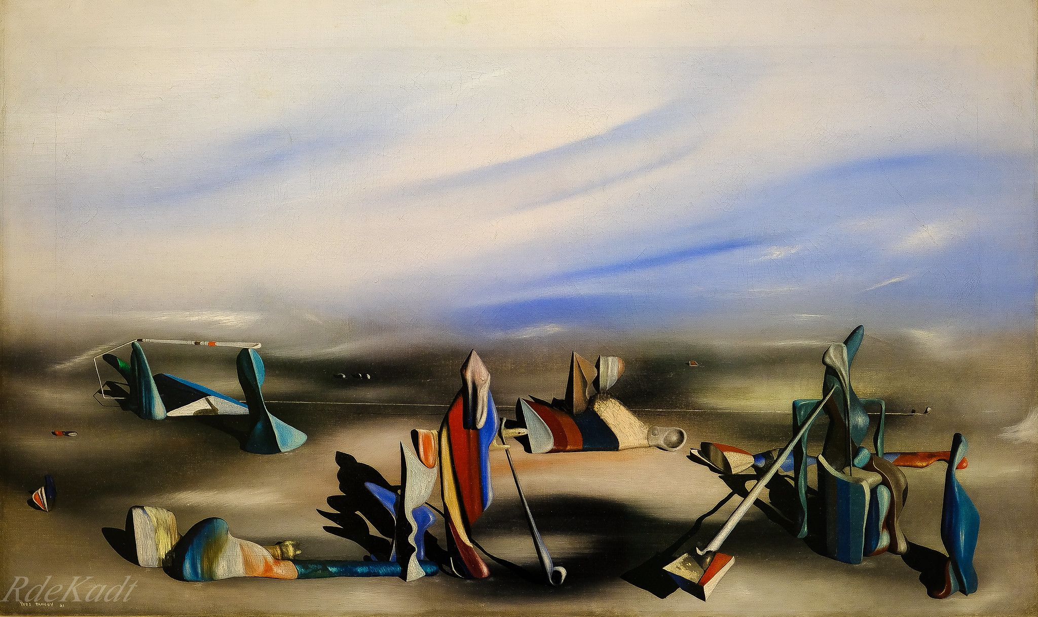 The Magicial Art of Yves Tanguy! In an Intederminate Place