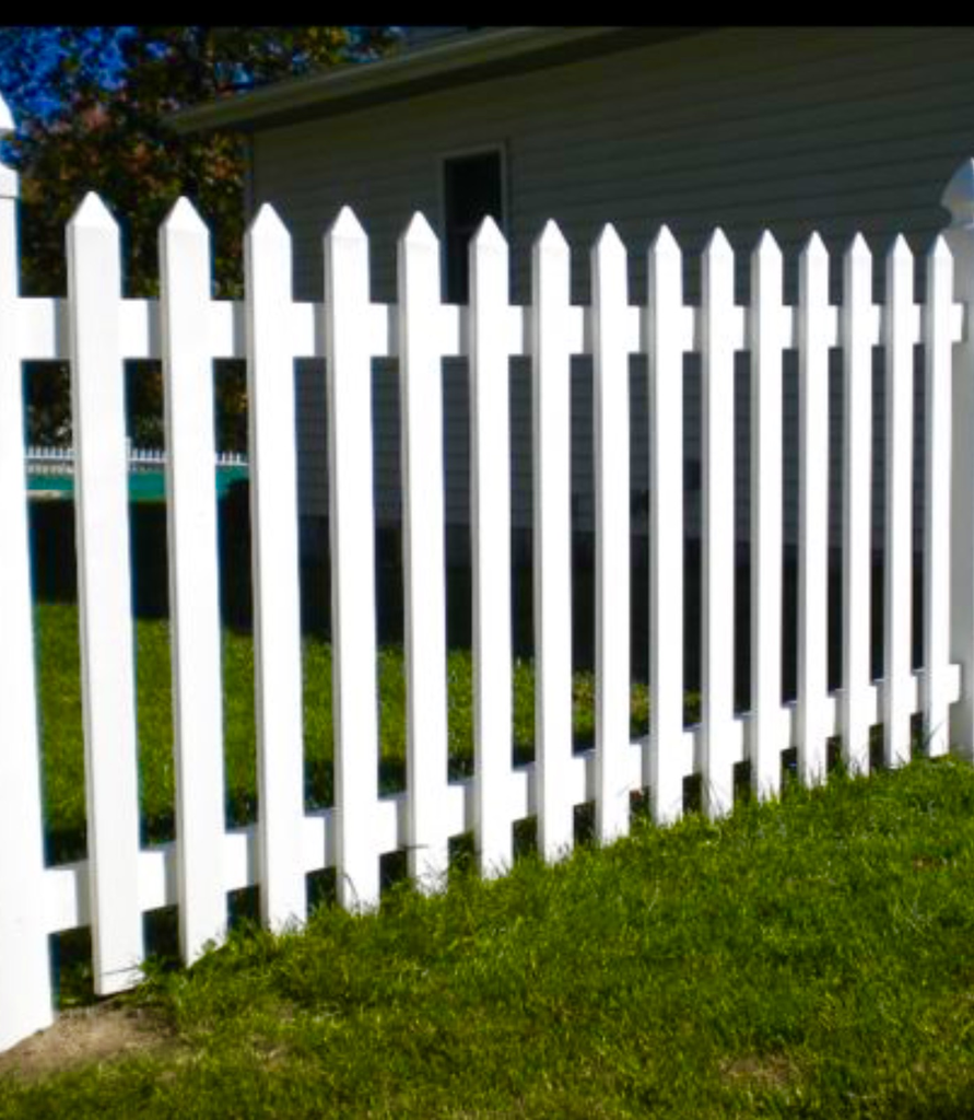 White Picket Fence Fully Finished Pointed Top White Picket Fence Best Exterior Paint Picket Fence
