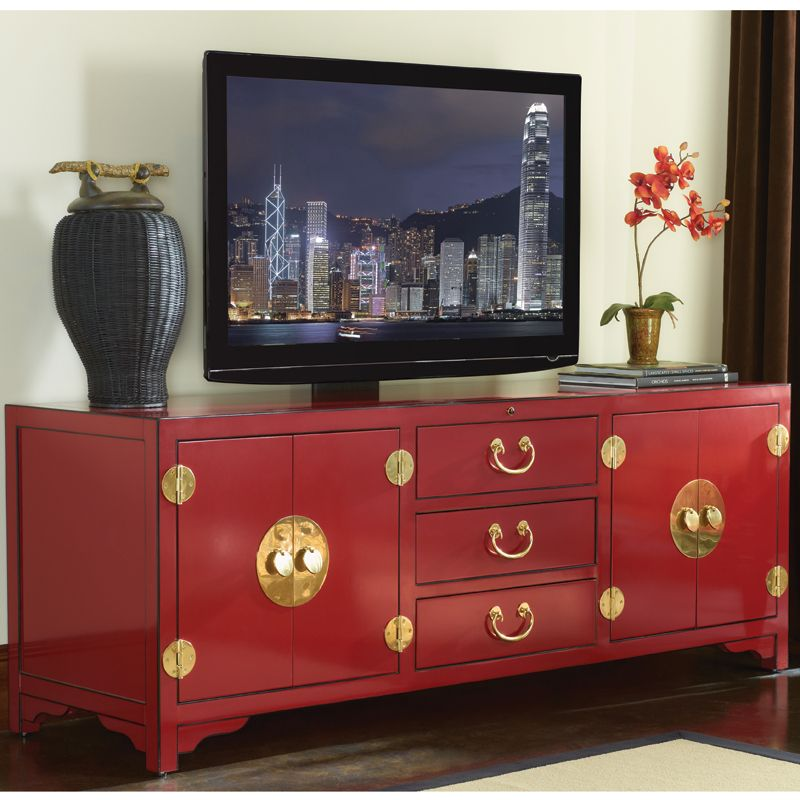 Excludes A Few Products Studio Designs Pacific Isle 75 Asian Style Tv Stand Entertainment Console In Red Dynamichome