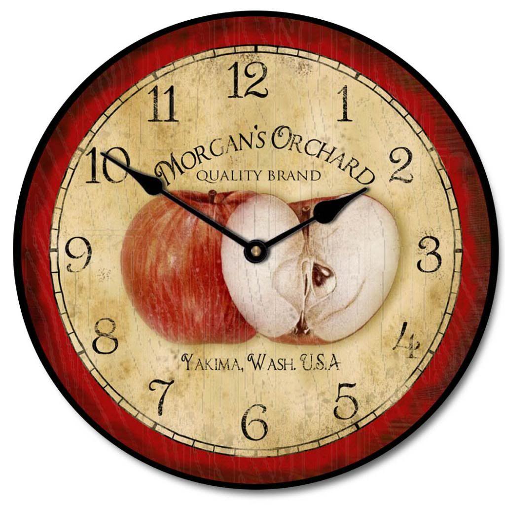 Apple Clock | The Big Clock Store | Clocks ⊙ | Pinterest | Clocks