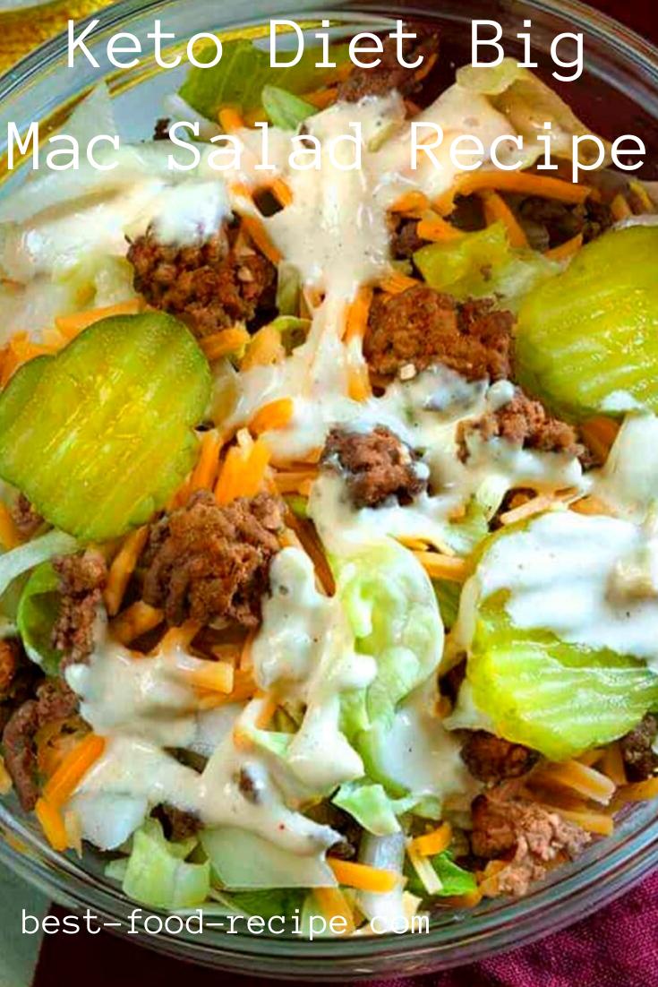 Keto Diet Big Mac Salad