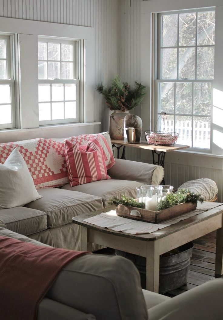 Farmhouse Addition Home Design Ideas Pictures Remodel And Decor: Modern Farmhouse Living Room Decor, Christmas Living