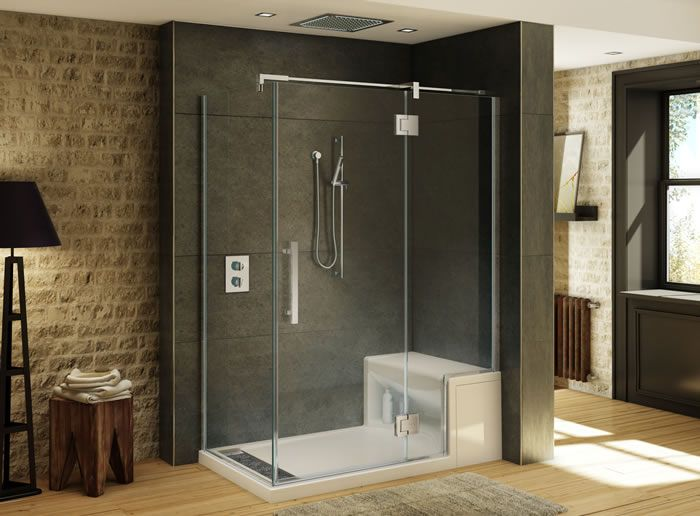 shower with bench seat