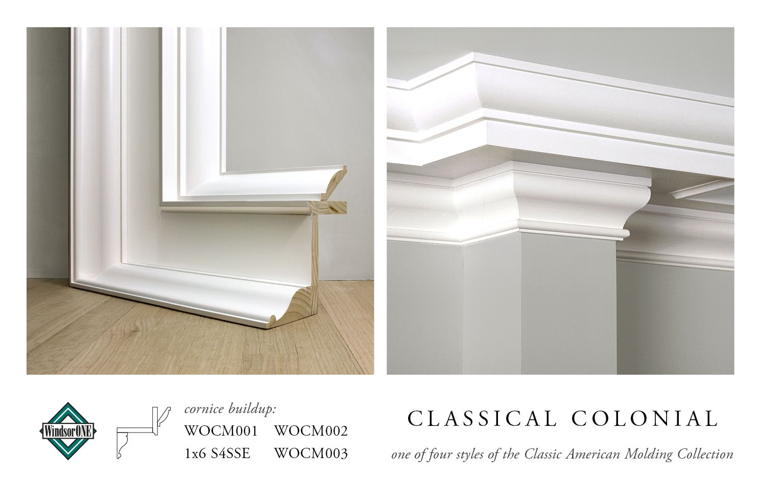 Windsorone Classical Colonial Cornice Buildup Of Wocm001