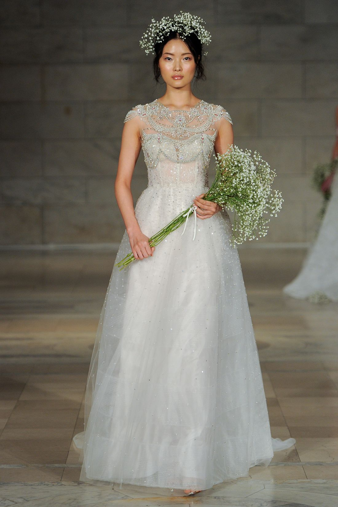 Delicate and ethereal bridal gowns from reem acra fall