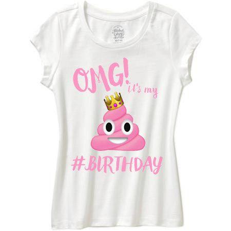 POOP EMOJI Omg Its My Birthday Shirt By WishesandkissesCo