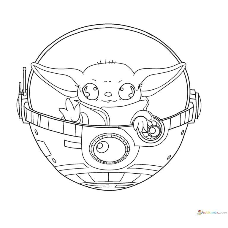 Coloring Pages Baby Yoda The Mandalorian And Baby Yoda Free Coloring Pages Cool Coloring Pages Yoda Drawing