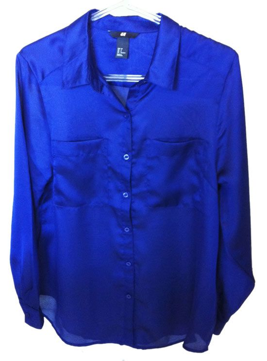 Camisa azul royal