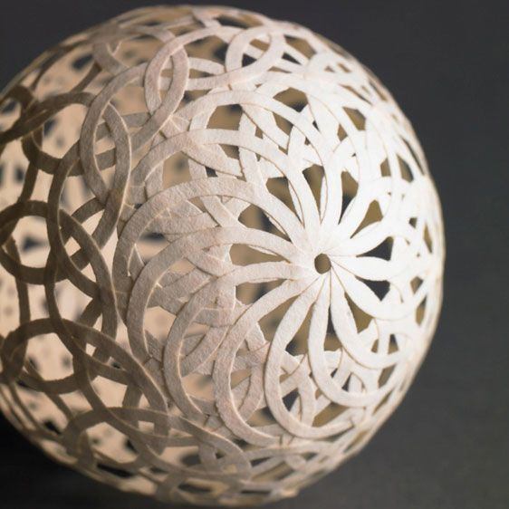 Photo of Teresa Redden – Paper Ball Detail Paper sculptures Paper-sculptures Book art Boo…