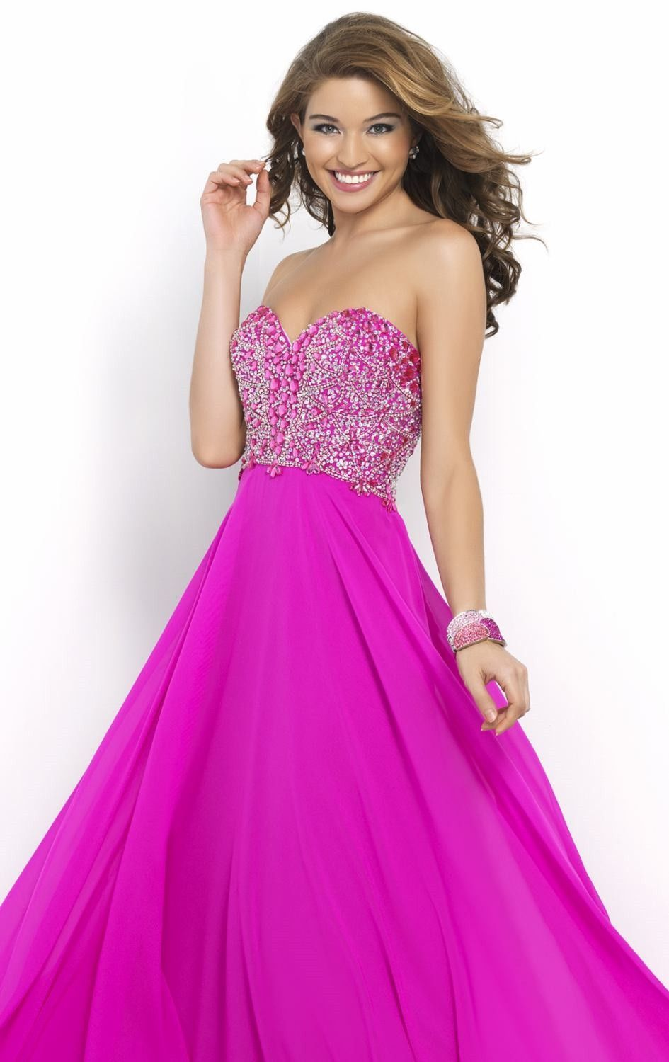 A Line Chiffon Backless Prom Dress Sleeveless Floor Length Formal ...
