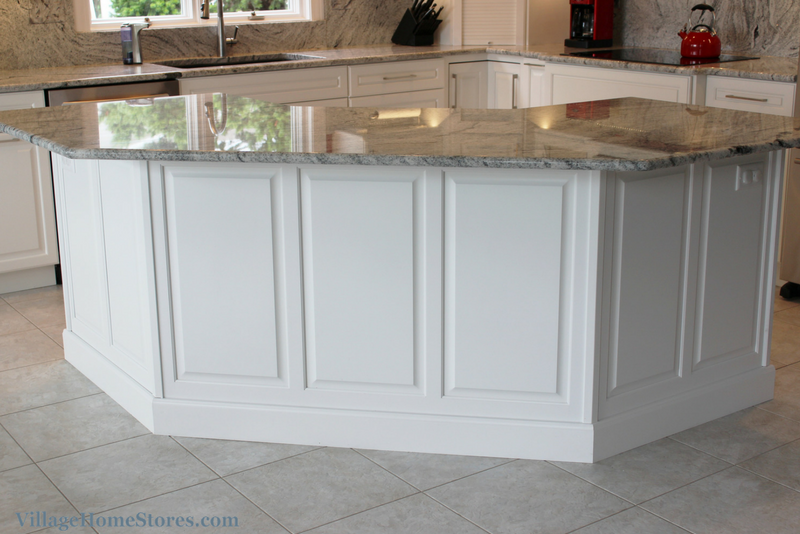 Wainscot #panels on the back of a painted white #kitchen # ...