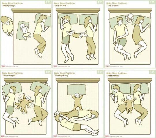 The Joys Of Co-Sleeping  Funny Stuff  Funny Babies, Baby Position, Baby Sleeping-5486