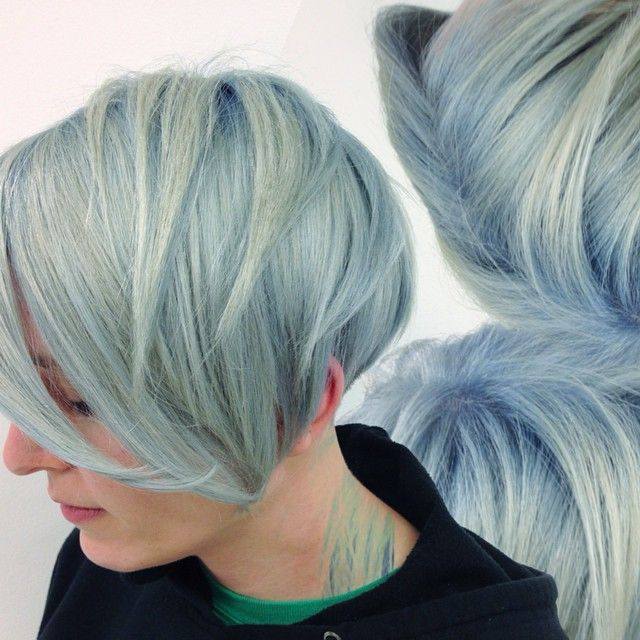 Bold And Pastel Blue With Ocean Storm By Instamatic Beautiful Hair Color Hair Color Pastel Boring Hair