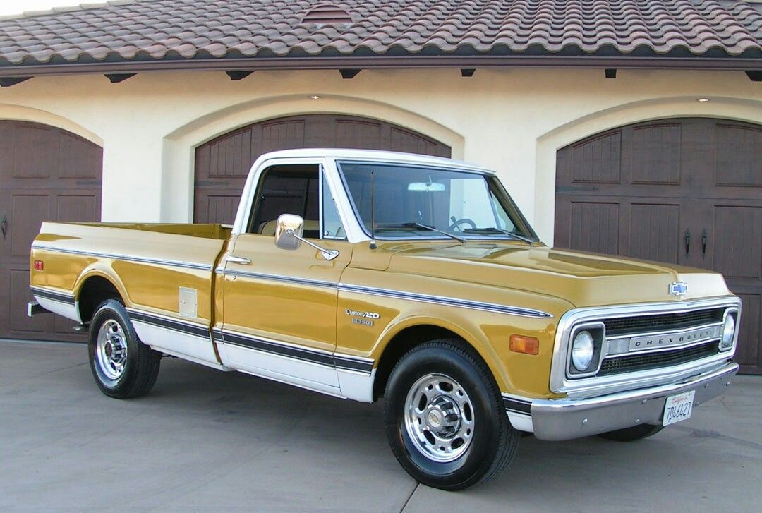 Gold 1970 Chevy C20 C10 Chevy Truck Old Chevy Pickups Chevy Trucks