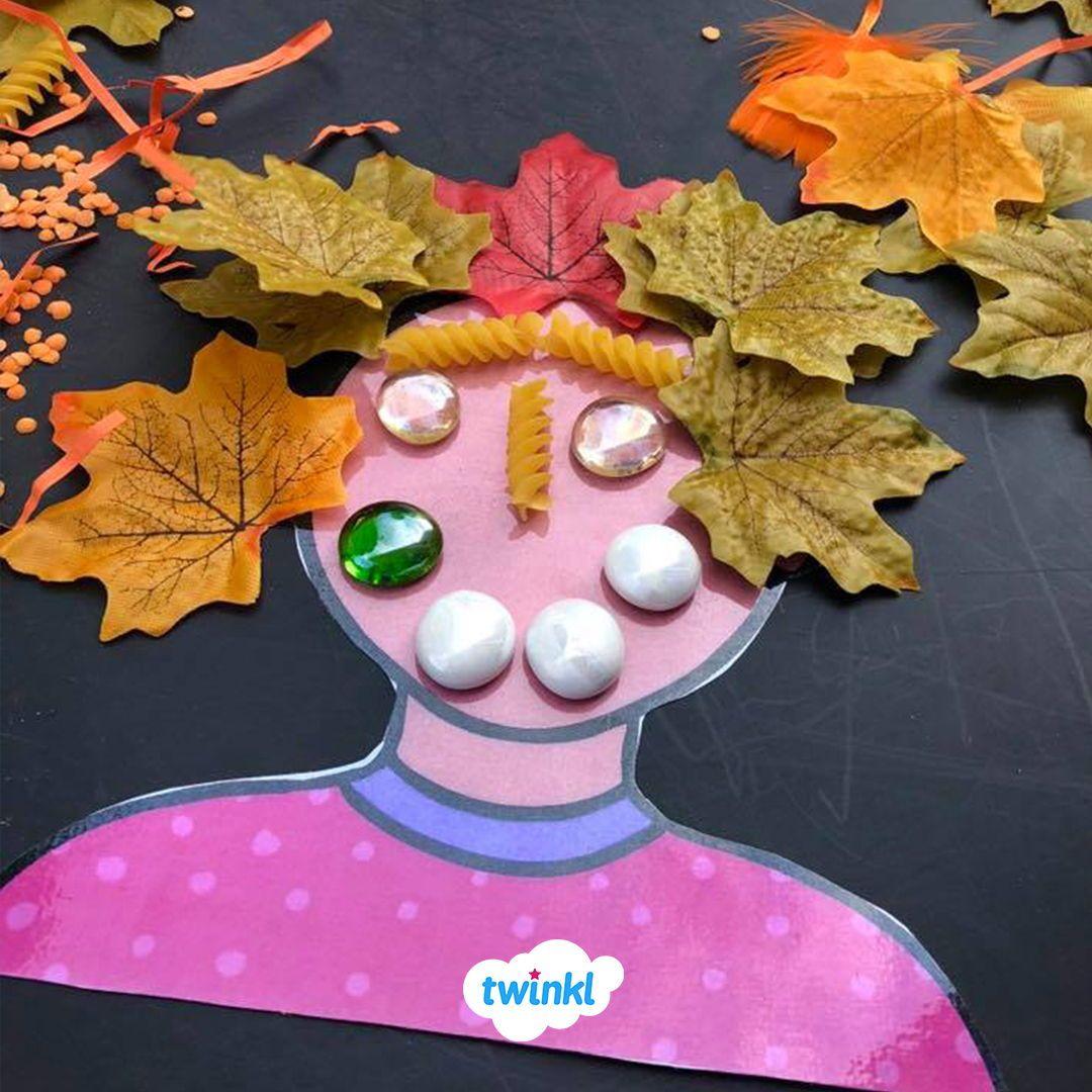 Autumn Make A Face Activity Collect Outdoor Autumn