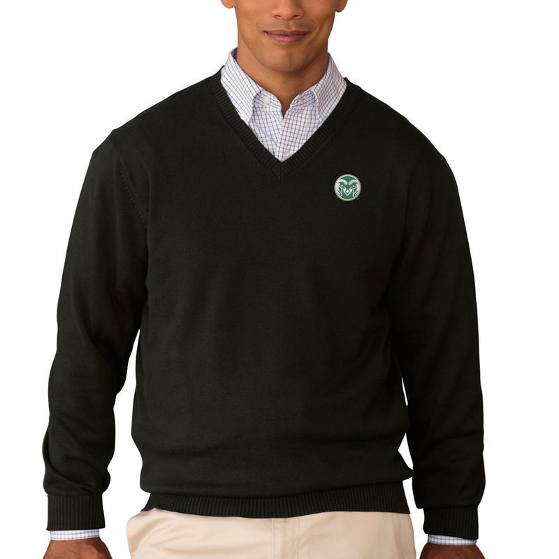 Colorado State Rams Clubhouse V-Neck Pullover Sweater - Black