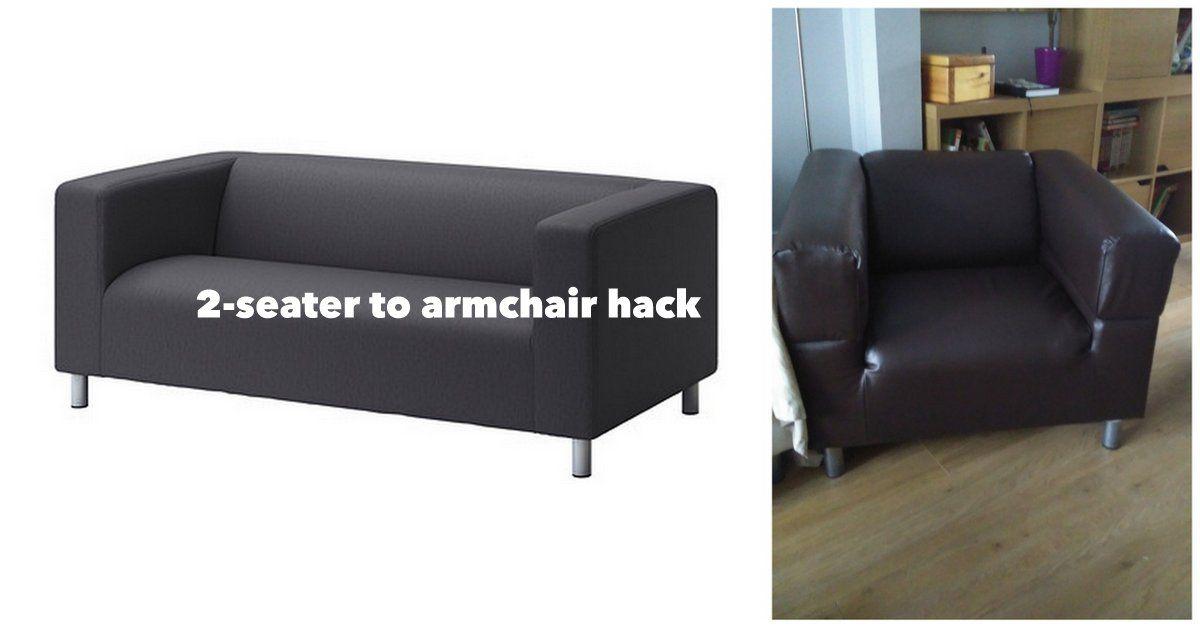 klippan armchair project. Black Bedroom Furniture Sets. Home Design Ideas