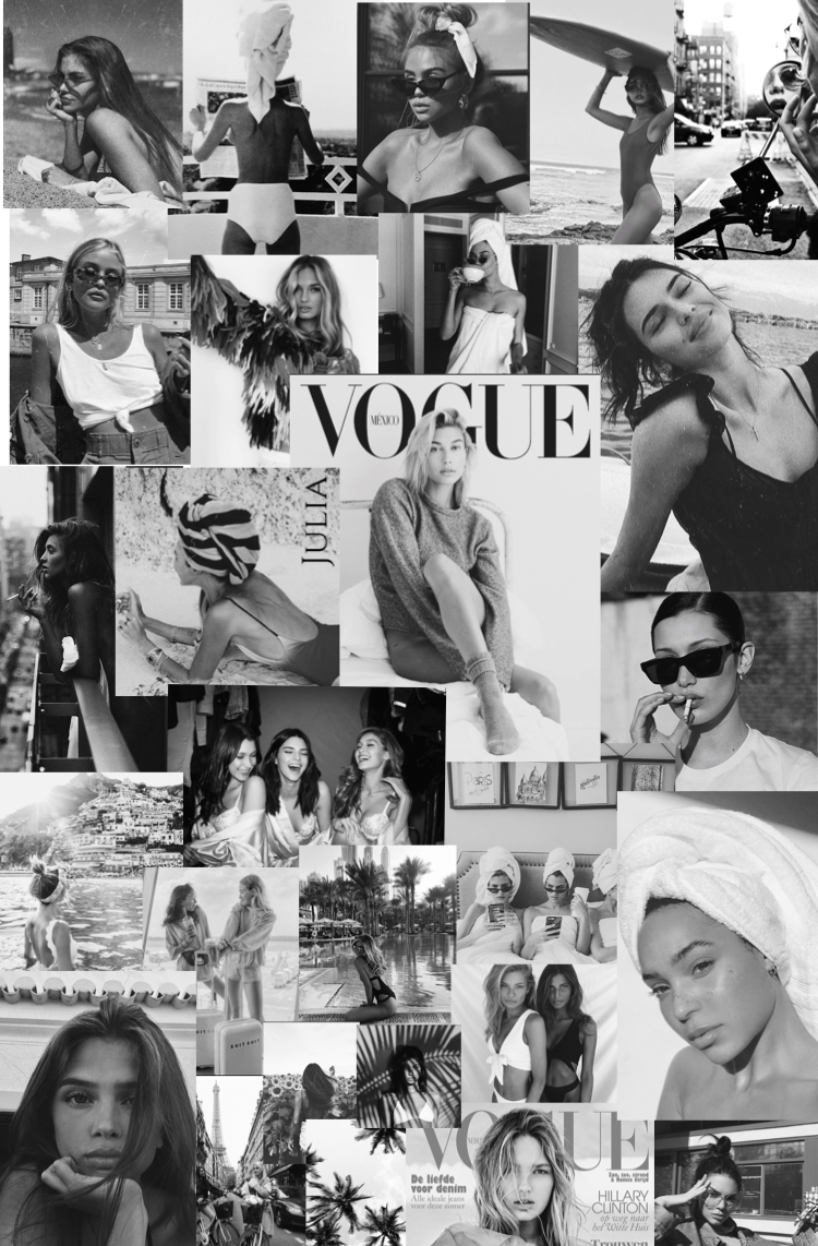 Black And White Blackandwhite Vogue Models Black And White Aesthetic Black And White Wallpaper White Aesthetic