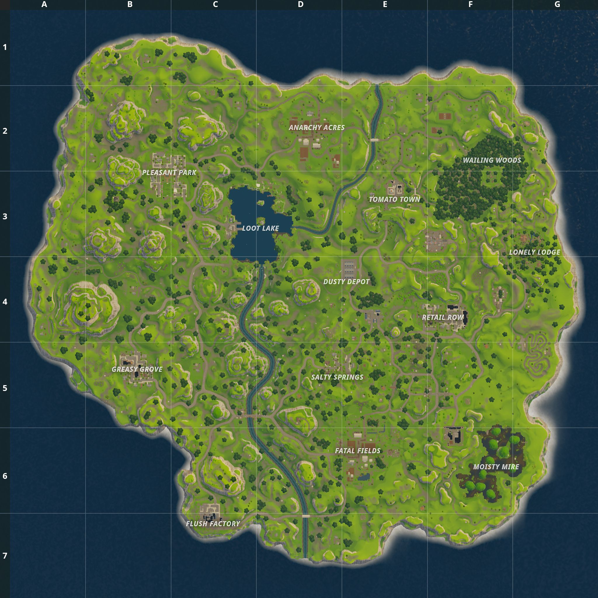 Fortnite Battle Royale Map Chest Spawn Locations Yoshi In 2019
