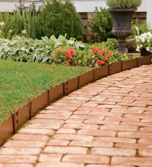 Bordures de jardin - 20 idées originales | Bordure de jardin, Idées ...