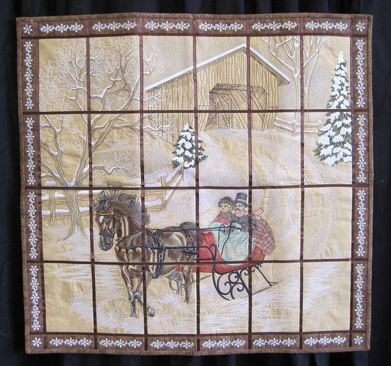 Dashing Through The Snow Finished Wall Hanging Quilt Quilts