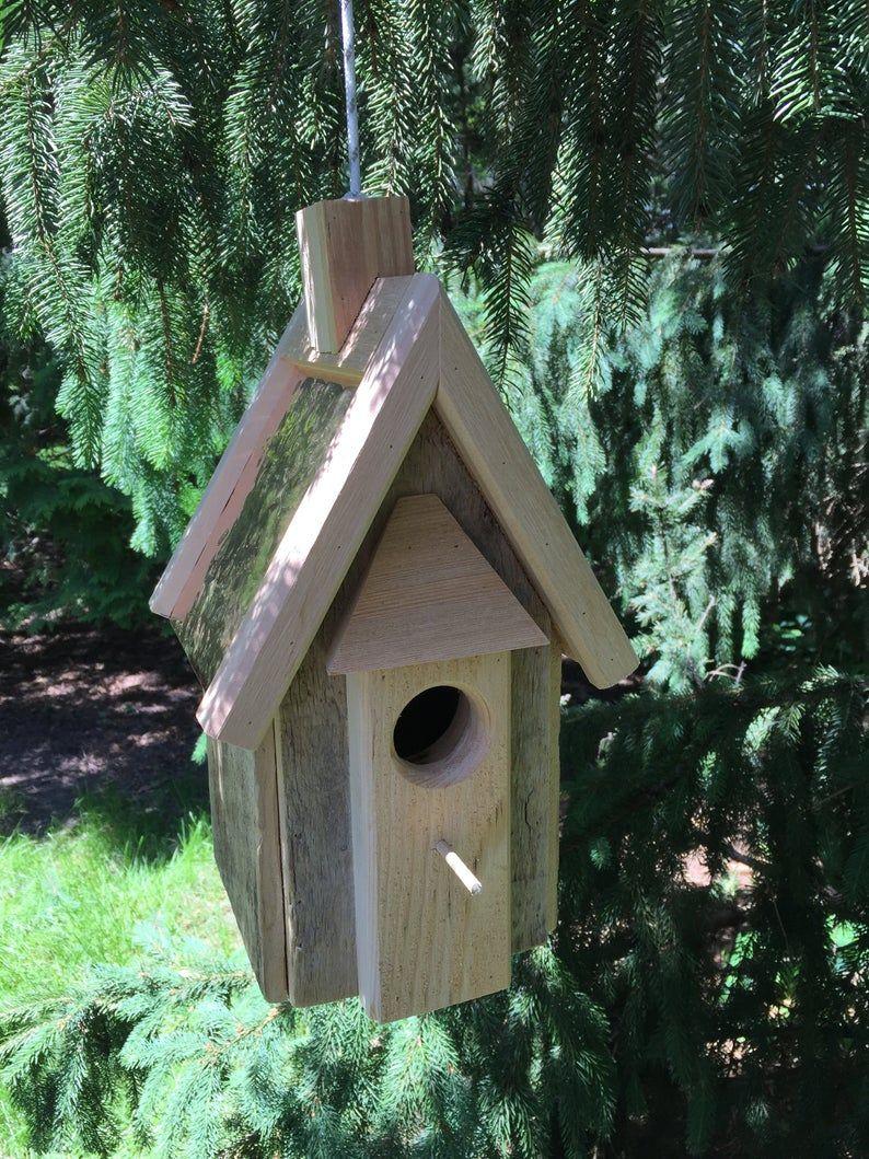 Bluebird Copper Roof Birdhouse Etsy In 2020 Bird Houses Birdhouses Rustic Bird Houses Diy