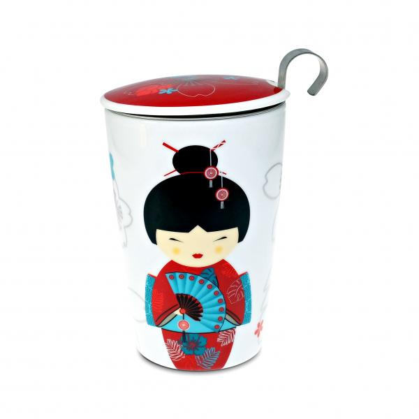 TEAEVE Little Geisha Double Walled Mug Mugs, Porcelain