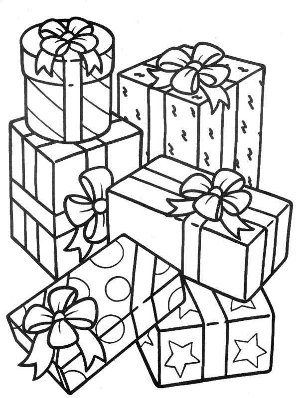 Regalos 17 Dibujos Faciles Para Dibujar Para Ninos Colorear Printable Christmas Coloring Pages Coloring Pages Christmas Present Coloring Pages