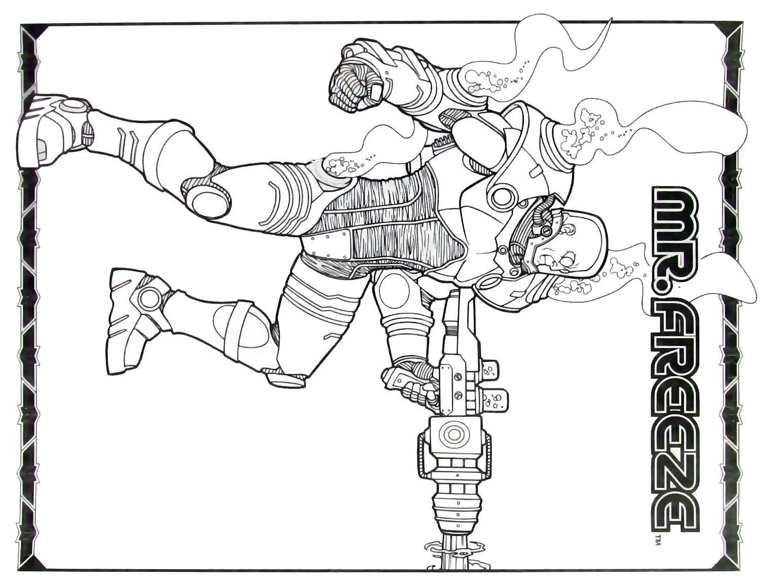 Batman Mr Freeze Printable Coloring Book Page