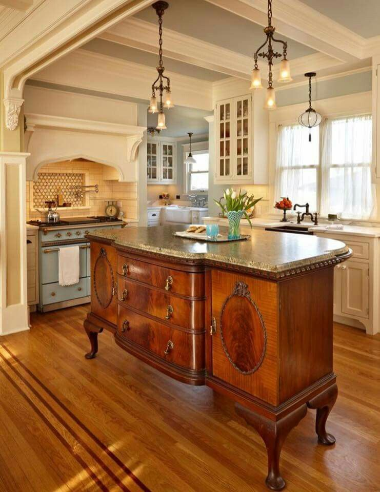 Beautiful Antique Kitchen Island Very French Country