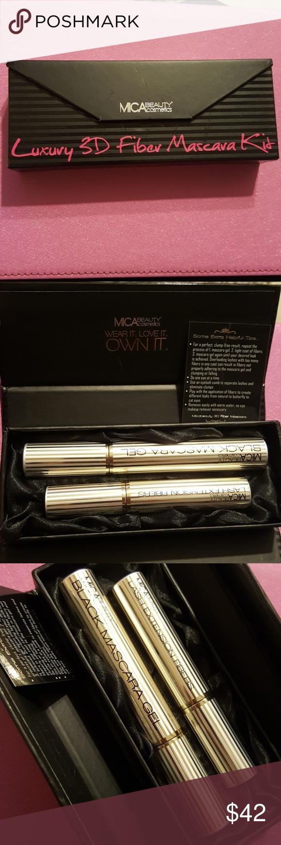 Luxury 3D Fiber Mascara Kit Mica Beauty cosmetics luxury