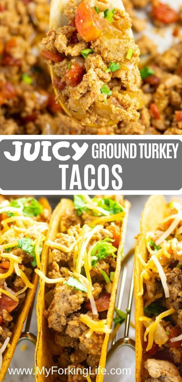 Juicy Ground Turkey Tacos - My Forking Life