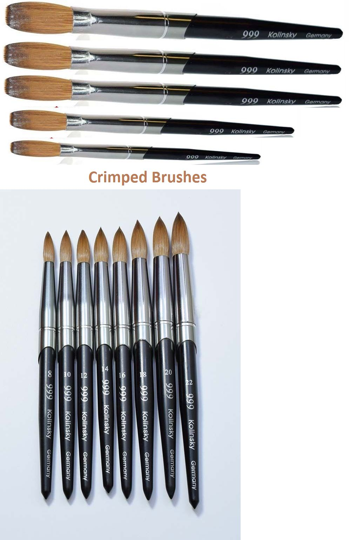 999 Titanium Handle Kolinsky Acrylic Nail Brush For Manicure Powder Crimped Acrylic Nail Brush Nail Brushes Acrylic Nails At Home